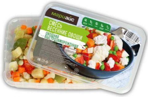 Смесь овощная «Весенние овощи» быстрозамороженная, МариАйс, 400г