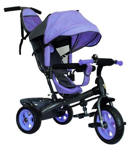 Велосипед детский с литыми колёсами (фиолетовый-серый)