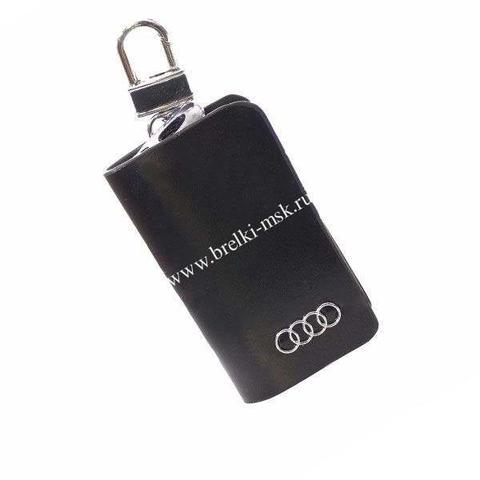 Ключница кожаная с логотипом Audi (Ауди)