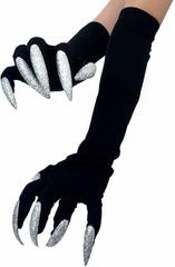 Хэллоуин перчатки с когтями