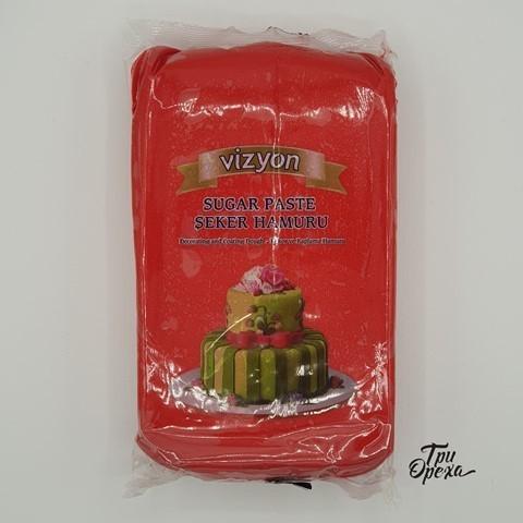 Паста для лепки Мастика красная Polen (Vizyon), 1 кг.