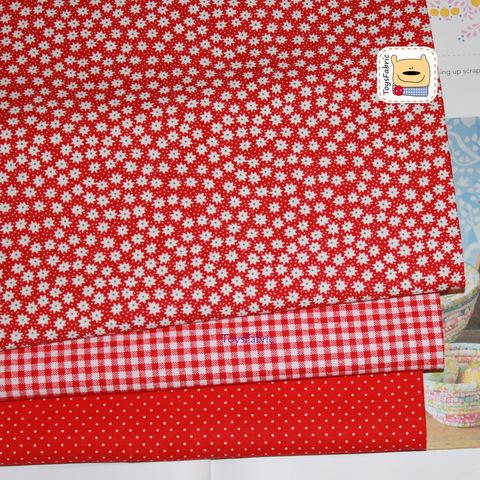 Набор тканей для пэчворка 51819 Базовый красный (45х35см/3шт.)