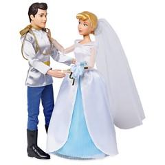 Набор кукол Золушка и принц Чарминг в свадебных нарядах - Cinderella, Disney
