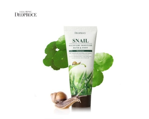 Deoproce Крем для ног и рук с муцином улитки DEOPROCE MOISTURE HAND & FOOT SNAIL RECOVERY 100мл