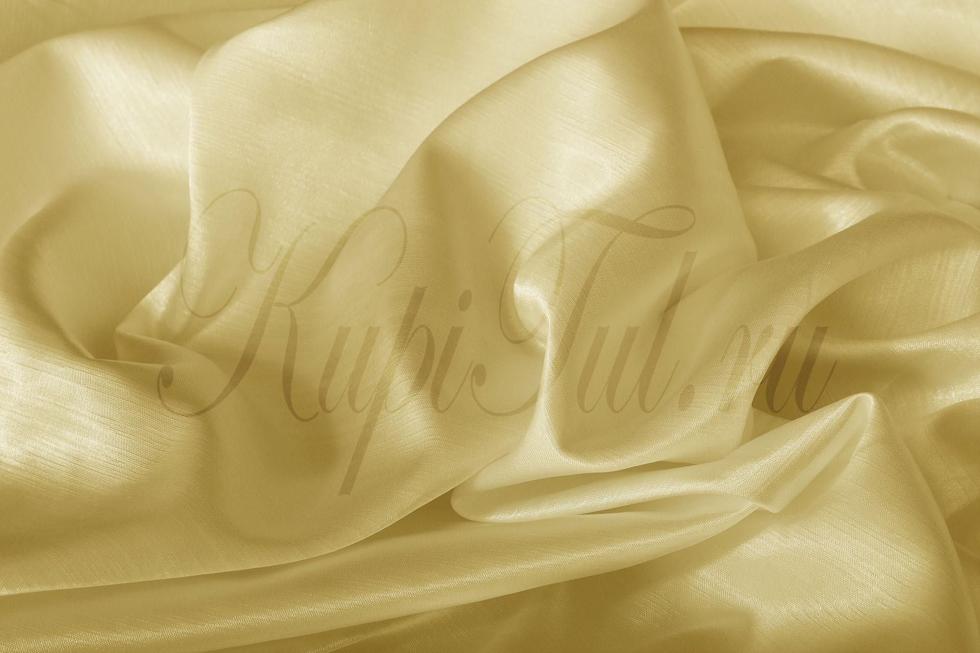 Длинные шторы. Leonardo (Кремовый),  однотонный шик-сатен.