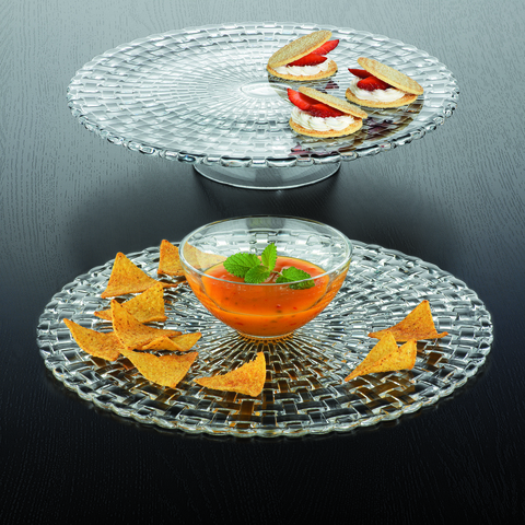 Bossa Nova Cake Plate/Chip And Dip