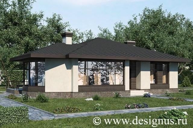 """Проекты «Дизайнус» Одноэтажный дом """"Original"""" 176 кв.м. 1-2.jpg"""