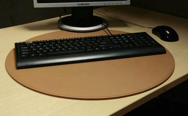 коврик на стол круглый кожа