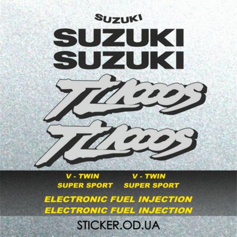 Набор виниловых наклеек на мотоцикл Suzuki TL1000S, 1998