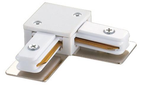 UBX-Q121 K21 WHITE 1 POLYBAG Соединитель для шинопроводов L-образный. Однофазный. Цвет — белый. Упаковка — полиэтиленовый пакет.