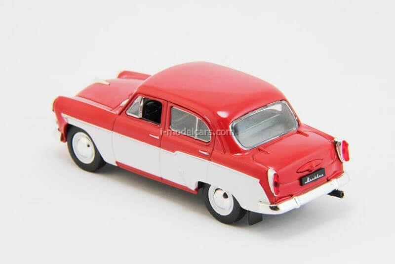 Moskvich-407 red-white 1:43 DeAgostini Auto Legends USSR #204