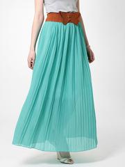 U288-1 юбка женская, бирюзовая