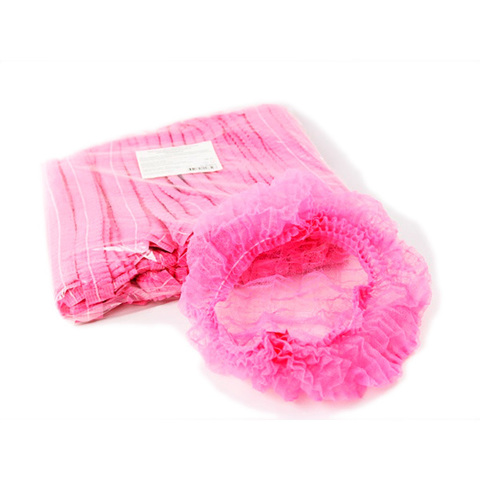 Шапочки одноразовые медицинские Шарлотта розовая 25 шт./уп