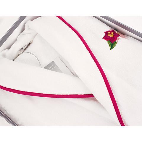 Lily белый махровый женский халат Soft Cotton (Турция)