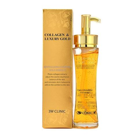 3W CLINIC Эссенция для лица Collagen & Luxury Gold Revitalizing Comfort Gold Essence (150мл)