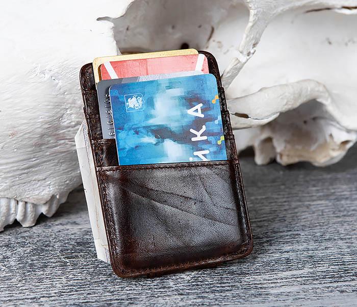 WL306-2 Кожаный зажим для денег с магнитом фото 07
