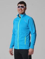 Элитная утеплённая лыжная куртка Nordski Elite Blue-Black мужская 2019