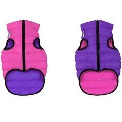 Жилетка двусторонняя для собак, AiryVest, XS 25 см розово-фиолетовая