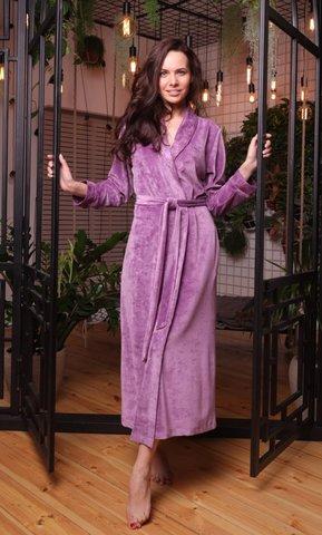Легкий велюровый халат из бамбука Roshel (EFW)