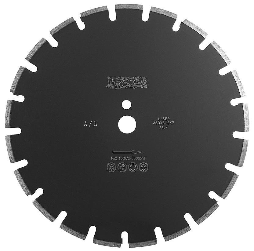 Алмазный диск по асфальту 350х25,4/20,0 мм MESSER A/L 01-12-350