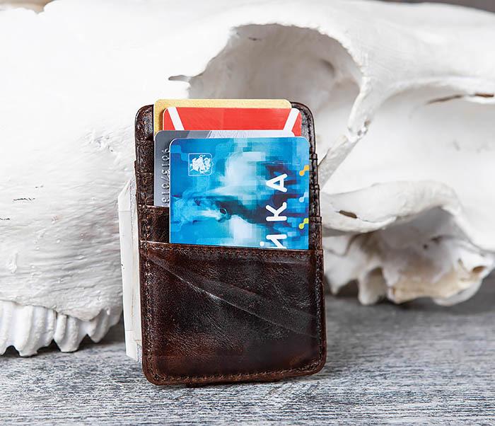 WL306-2 Кожаный зажим для денег с магнитом фото 08