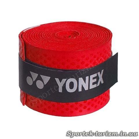 Красная тонкая обмотка YONEX для ручки ракетки