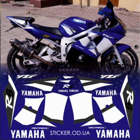 Набор виниловых наклеек на мотоцикл YAMAHA YZF-R6 2002
