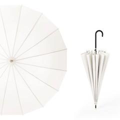 Японский зонт трость 16 спиц AKSISUR белый
