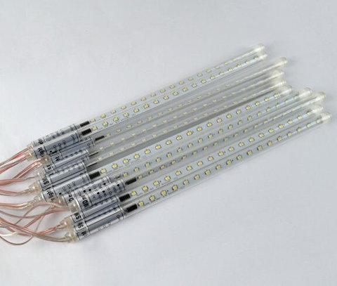 Гирлянда сосулька с последовательным соединением между сосбой 50 см led