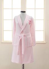 ANEMON  розовый  вафельно-махровый женский халат Soft Cotton (Турция)