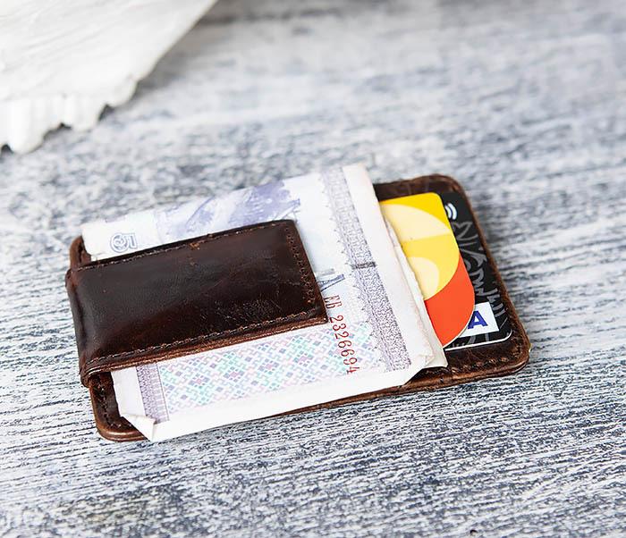 WL306-2 Кожаный зажим для денег с магнитом фото 09