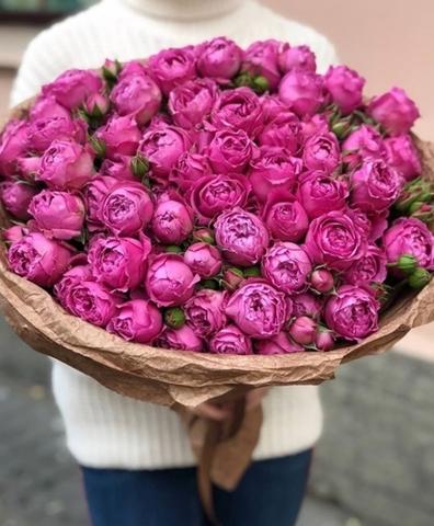 Букет из пионовидных роз Мисти Баблз
