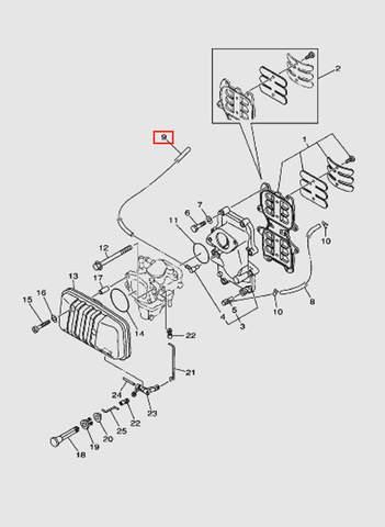 Трубка L280 для лодочного мотора T40 Sea-PRO (4-9)