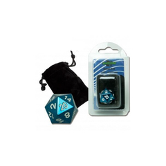 D20 Metal with velvet bag - Blue