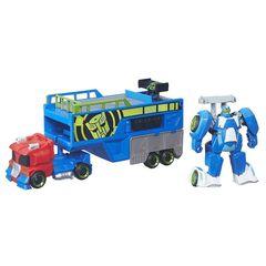 Робот - трансформер Оптимус Прайм (Optimus Prime) с трейлером - Боты спасатели (Rescue Bots), Hasbro