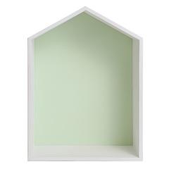 Полочка-домик, зеленая
