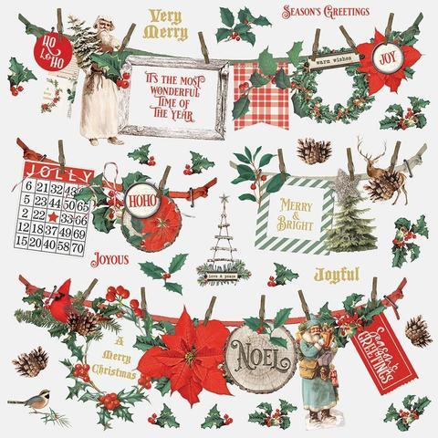 Стикеры 30х30см Country Christmas Cardstock Stickers- Banners