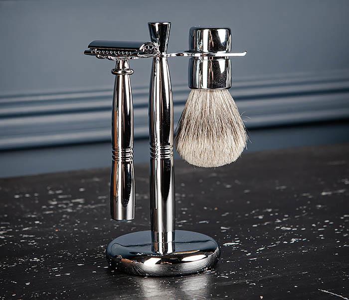 RAZ484 Подарочный набор для бритья: подставка, станок и помазок фото 05