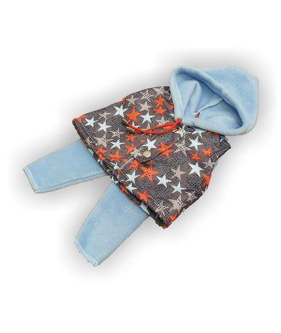 Костюм с жилетом - Голубой. Одежда для кукол, пупсов и мягких игрушек.