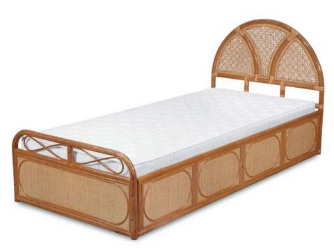 """Кровать из ротанга, односпальная """"Венера"""""""