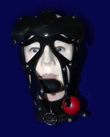 Бдсм Шлем с ошейником «Скар фэйс»
