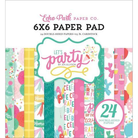 Набор двусторонней бумаги 15х15 см - Let's Party  -24л