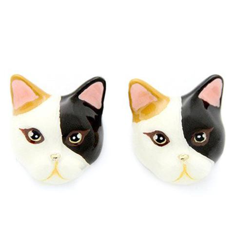 Серьги Кошка (трехцветная)