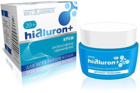BelKosmex Hialuron+ Крем крем интенсивное увлажнение 20+ для всех типов кожи 48г