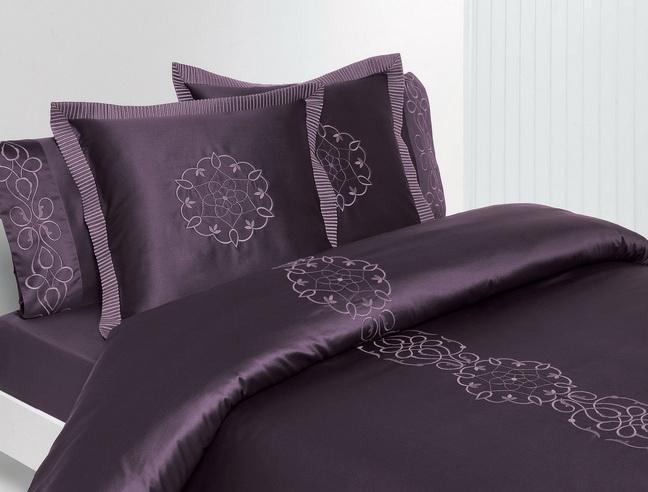 Постельное белье 2 спальное евро Bovi Франсе Нуар лиловое
