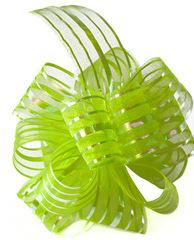 Бант-шар органза с перламутровой полосой 50х160 (салатовый)