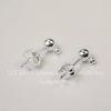 Пуссеты - гвоздики с шариком 4 мм (цвет - серебро) (с заглушками)