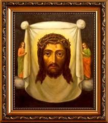 Спас Нерукотворный в терновом венце. Икона на холсте.