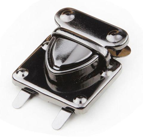 Замок-клапан квадрат на зажимах 30 х 30 мм (черный никель)