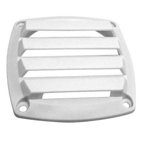 Крышка вентиляции пластмассовая 85х85 мм, белая